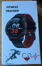 Fitness Tracker Smart Watch FFit  Red Black New