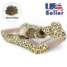 17' Kitty Cat Scratcher-Lounger-Groom Claws-Corrugated Cardboard Couch + Catnip