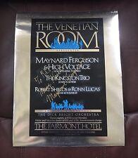 RARE Maynard Ferguson High Voltage Venetian Room Poster Signed San Francisco