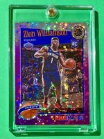 Zion Williamson PURPLE DISCO PRIZM RC PREMIUM STOCK 2019-20 NBA HOOPS ROOKIE