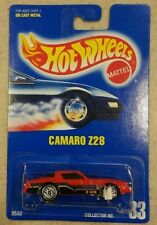 Hot wheels camaro Z28 blue card collector #33 1991 Red NIP UNOPENED NEW SEALED