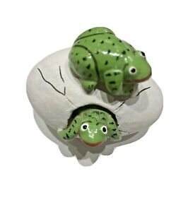 Frogs Hatching from Egg Sculpture  Handmade  Belize 2013