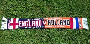 England vs. Holland  Game scarf 10.08.2011. WEMBLEY