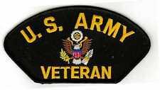 Army Veteran Black Hat Patch