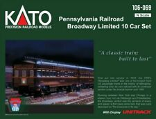 KATO 1060691 N Pennsy RR Broadway Limited 10 car lighted passenger set 106-069-1