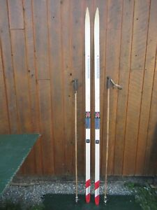 """Ready to Use Cross Country 83"""" Long KNEISSL 215 cm Skis with SALOMON Bindings"""