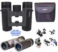 DAY & NIGHT VISION BIRD WATCHING BINOCULARS + SMART PHONE ADAPTER APPLE SAMSUNG