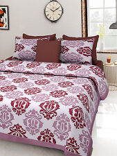 NEW KING SIZE INDIAN TRADITIONAL RAJASTHANI 100% COTTON KING BED SHEETS SETS