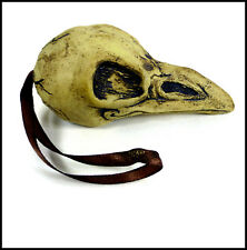 Crow Skull Hanger (Brown) by Zoo Ceramics - Light Pull - Cord Pull - Decoration