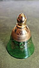 Pretty Vintage Glass Bell with Gold Leaf