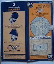 carte MICHELIN 69 BOURGES - MACON 1948