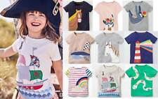 Mini Boden girls applique t- shirt top age 2 - 12 years cotton jersey summer