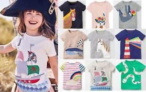 Mini Boden girls applique t-shirt top age 2 - 6 years cotton jersey summer tee