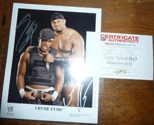 Cryme Time Wrestling WWE Tag Team Foto mit Original Autogramm handsigniert