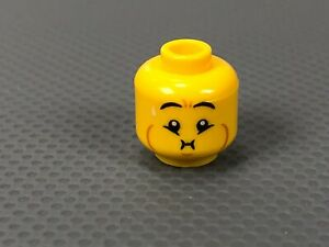 LEGO Minifigure HEAD Queasy Puke Sick & Open Mouth Smile Dual Sided (x1)