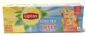 Lipton Southern Sweet Tea Bags For Iced Tea 22 Ct Family Size