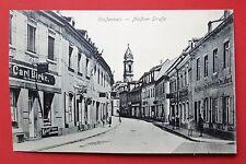 AK GROSSENHAIN in Sa. um 1910 Meissner Strasse mit Carl Birke Laden    ( 27397