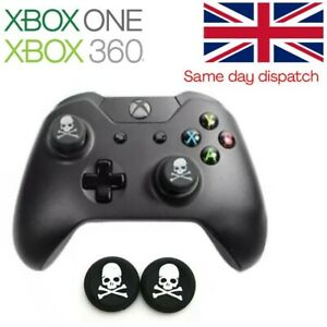 White Skulls Rubber Thumb Grips Analog Cap Covers XBOX ONE Series X Controller