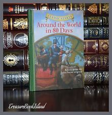 Around the World in 80 Days by Jules Verne New Illustrated Collectible Hardcover