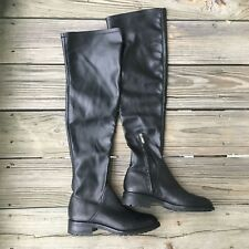 b732561597c Women s Sam Edelman Remi Above Knee Boots Shoes Size 6M Black Leather Pull  On F2