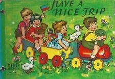Have a nice Trip Altes Bilderbuch auf Englisch! 50er Jahre Kinder Fahrzeuge TOP!