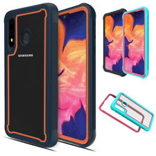 For Samsung Galaxy A20s Bumper Shock Absorption Crystal Clear Case Armor Cover