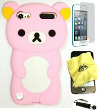 iPod Touch 5th 6th Generation BABY PINK 3D RILAKKUMA BEAR Soft Silicone Case