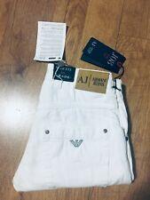 NWT BOYS/Mens Armani Jeans J08 Salvage SoftDenim White R/Slim W26L30H6.5 RRP£149