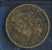 Togo 2 1924 sehr schön Aluminium-Bronze 1924 1 Franc Laureate (8977189