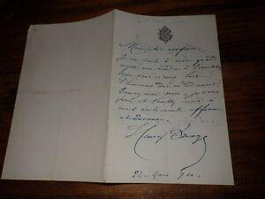 1874.Lettre  autographe..Henry Bocage
