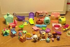 Littlest Pet Shop Lot of Pets and Accessories Poodle Pelican Clown Fish Tricycle