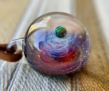 SPACE GLASS plus alpha +α Black pearl Kenji Tomizu Necklaces Pendants