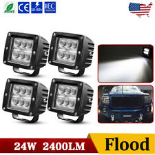 4x 3inch Cree LED Work Light Cube Pods Driving 240W Flood OffRoad Bumper SUV ATV