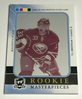TJ Brennan 1/1 made The Cup Printing Plate Insert Parallel Hockey Card Rookie