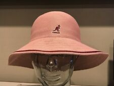 KANGOL Tropic Wide Brim Stripe Casual Hat Cap COOL Large Dark Rose Pink NEW !!