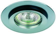 SPOT à Encastrer Inclinable&Pivotant pour Ampoule 12V MR16 GU5.3 finition Chrome