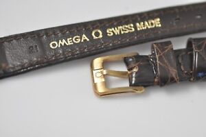 11mm Omega Original Band Strap Brown with Buckle New Old Stock NOS (w53)