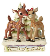 Enesco Jim Shore Rudolph Traditions Rudolph and Clarice by Trees NIB 6001588