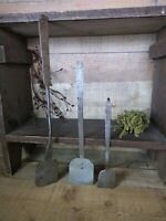 Lot Of 3 Early Primitive Hand Forged Iron Spatulas Hearth Oven Peel Kitchen Tool