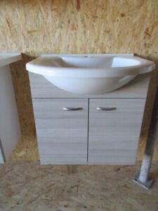 Vero-nika 60cm Badmöbel Unterschrank Pinie mit Waschbecken pergamon