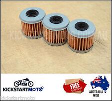 Oil Filter for Honda CRF150 CRF230 CRF450 TRX450 (3 pack) bulk filters CRF TRX