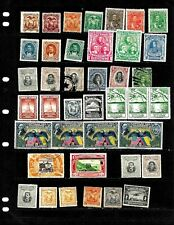 ECUADOR: NICE  'VINTAGE' STAMP COLLECTION  DISPLAYED ON 4 SHEETS .SEE SCANS