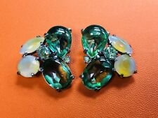 Schiaparelli Crystal Earrings