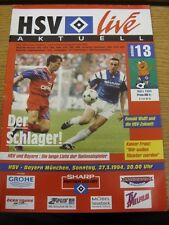 27/03/1994 Hamburg v Bayern Munich  . Thanks for viewing our item, buy with conf