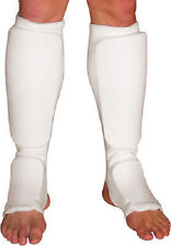 Tiger Claw Cloth Shin Instep Guards - White