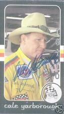 CALE YARBOROUGH  AUTOGRAPHED 1999 PRESSPASS NASCAR CARD