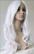 Élégant blanche bouclés longue perruqueCosplay wig+hairnet