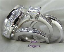 His Hers Engagement Wedding Ring Set, (Women Size 10)