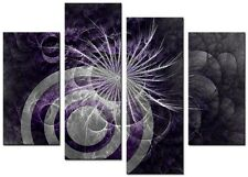 4 PANEL TOTAL SIZE 90x70cm ABSTRACT ART  DIGITAL  PRINT MOUNTED Chroma Purple