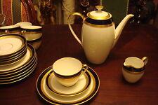 ARZBERG-HUTSCHENREUTHER, Germany -c40s coffee set 20 pcs gold,blue, white[60*arz